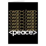 Guerra y paz tarjeta pequeña