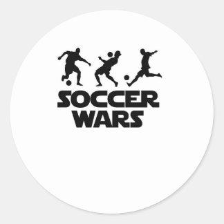 Guerras del fútbol para el mundial pegatina redonda