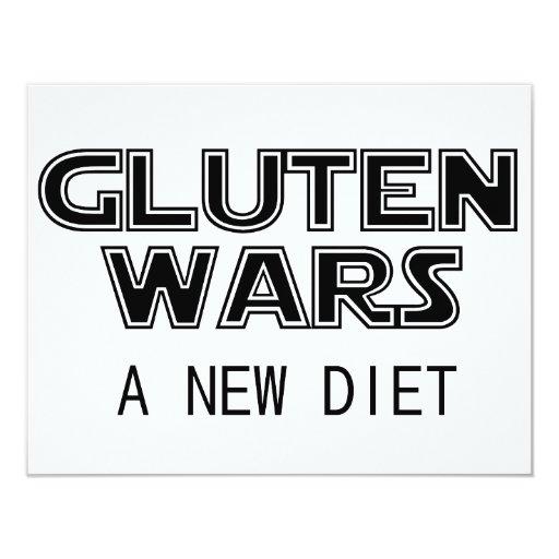 """Guerras del gluten: Un gluten celiaco de la nueva Invitación 4.25"""" X 5.5"""""""