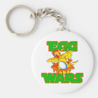 Guerras del huevo llavero redondo tipo pin