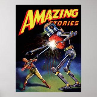 guerras del robot póster