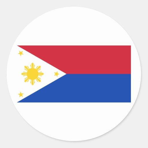 Guerrean   las Filipinas, Filipinas Pegatina Redonda