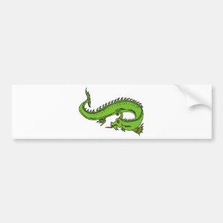 Guerrero 11 del dragón pegatina para auto