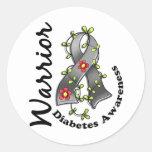 Guerrero 15 de la diabetes pegatinas redondas