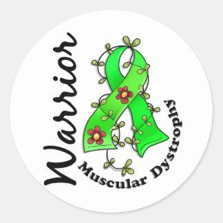 Guerrero 15 de la distrofia muscular etiquetas redondas