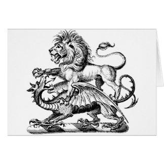 Guerrero 1 del dragón tarjeta de felicitación