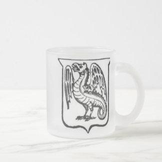 Guerrero 21 del dragón taza cristal mate
