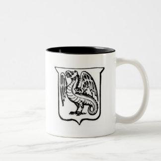 Guerrero 21 del dragón taza dos tonos
