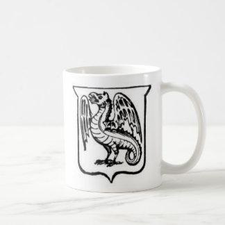 Guerrero 21 del dragón taza básica blanca