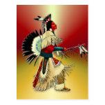 Guerrero #5 del nativo americano postales