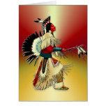 Guerrero #5 del nativo americano tarjeta de felicitación