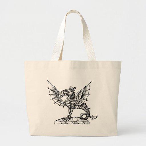 Guerrero 9 del dragón bolsas de mano
