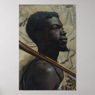 Guerrero africano de Walter Scott Boyd Póster