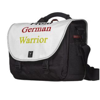 Guerrero alemán orgulloso bolsas de ordenador
