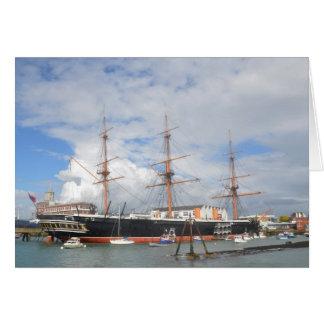 Guerrero alto del HMS de la nave Tarjeta De Felicitación