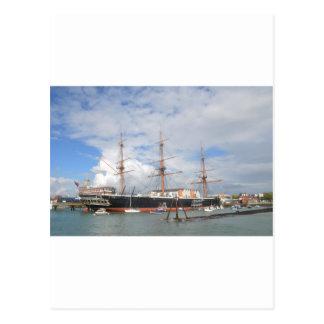 Guerrero alto del HMS de la nave Tarjetas Postales