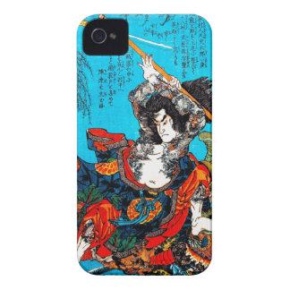 Guerrero antiguo japonés oriental fresco Jo del Funda Para iPhone 4