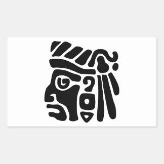 Guerrero azteca pegatinas
