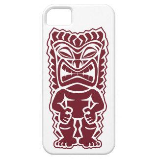 guerrero Borgoña del tótem del tiki iPhone 5 Protector