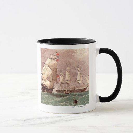 Guerrero británico del HMS del buque de guerra