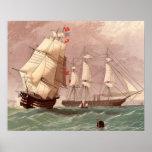 Guerrero británico del HMS del buque de guerra Póster