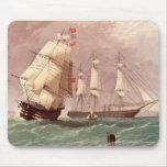 Guerrero británico del HMS del buque de guerra Tapete De Ratón