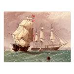 Guerrero británico del HMS del buque de guerra Tarjetas Postales
