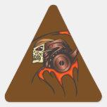 Guerrero cibernético del cráneo calcomania trianguladas personalizadas