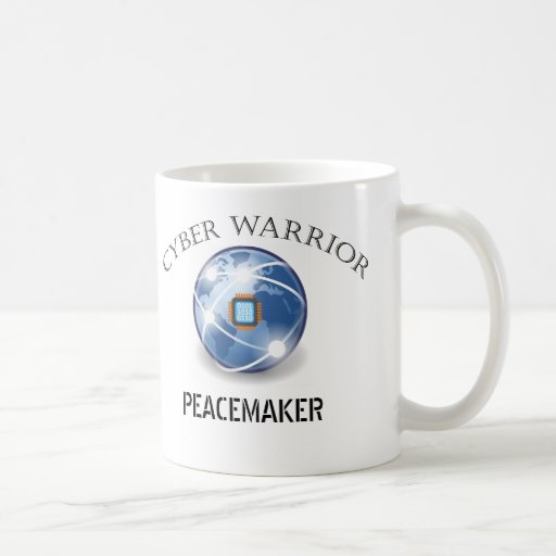 Guerrero cibernético - globo de Digitaces Tazas De Café