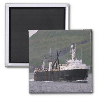 Guerrero de Alaska, F.C.A. Trawler en puerto holan Iman Para Frigorífico