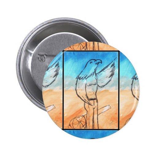 Guerrero de Eagle Pin Redondo 5 Cm