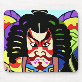 Guerrero de Kabuki Alfombrillas De Ratón