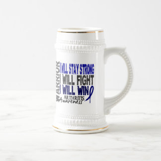 Guerrero de la artritis tazas de café
