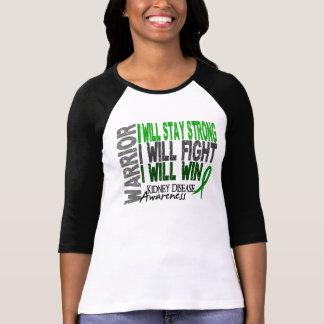 Guerrero de la enfermedad de riñón camisetas