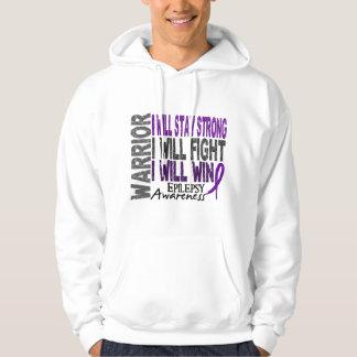 Guerrero de la epilepsia suéter con capucha