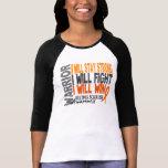 Guerrero de la esclerosis múltiple camiseta