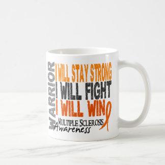 Guerrero de la esclerosis múltiple taza de café