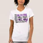 Guerrero de la fibrosis quística camisetas