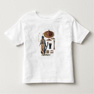 Guerrero de la isla de Guebe con los artículos del T-shirt