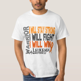 Guerrero de la leucemia camisas