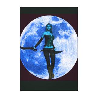 Guerrero de la luna azul impresiones en lienzo estiradas