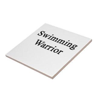 Guerrero de la natación azulejo cuadrado pequeño