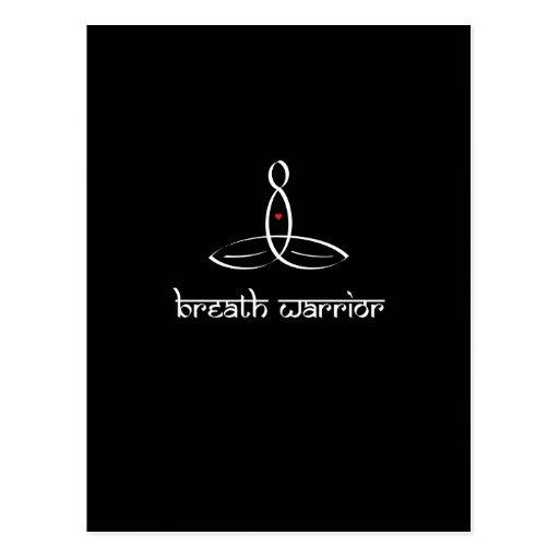 Guerrero de la respiración - estilo sánscrito blan tarjetas postales