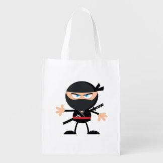 Guerrero de Ninja del dibujo animado Bolsas Reutilizables