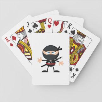 Guerrero de Ninja del dibujo animado Naipes