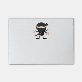 Guerrero de Ninja del dibujo animado Post-it Notas