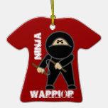 Guerrero de Ninja y ornamento del dragón Adornos De Navidad
