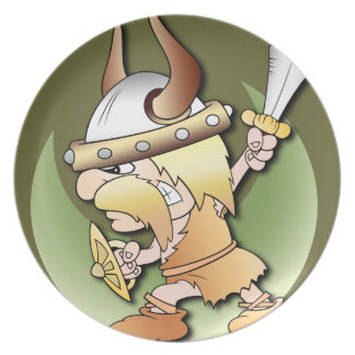 Guerrero de Viking Platos Para Fiestas