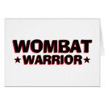 Guerrero de Wombat Tarjeton