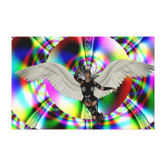 Guerrero del ángel impresiones de lienzo